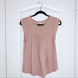 Lucky Brand   Feminine Embroidered Top